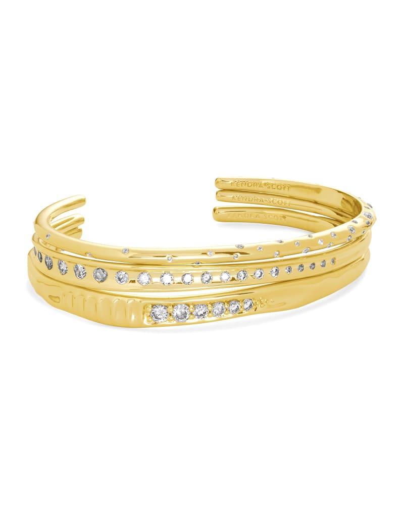 Selena Cuff Bracelet Set of 3 in Gold | Kendra Scott