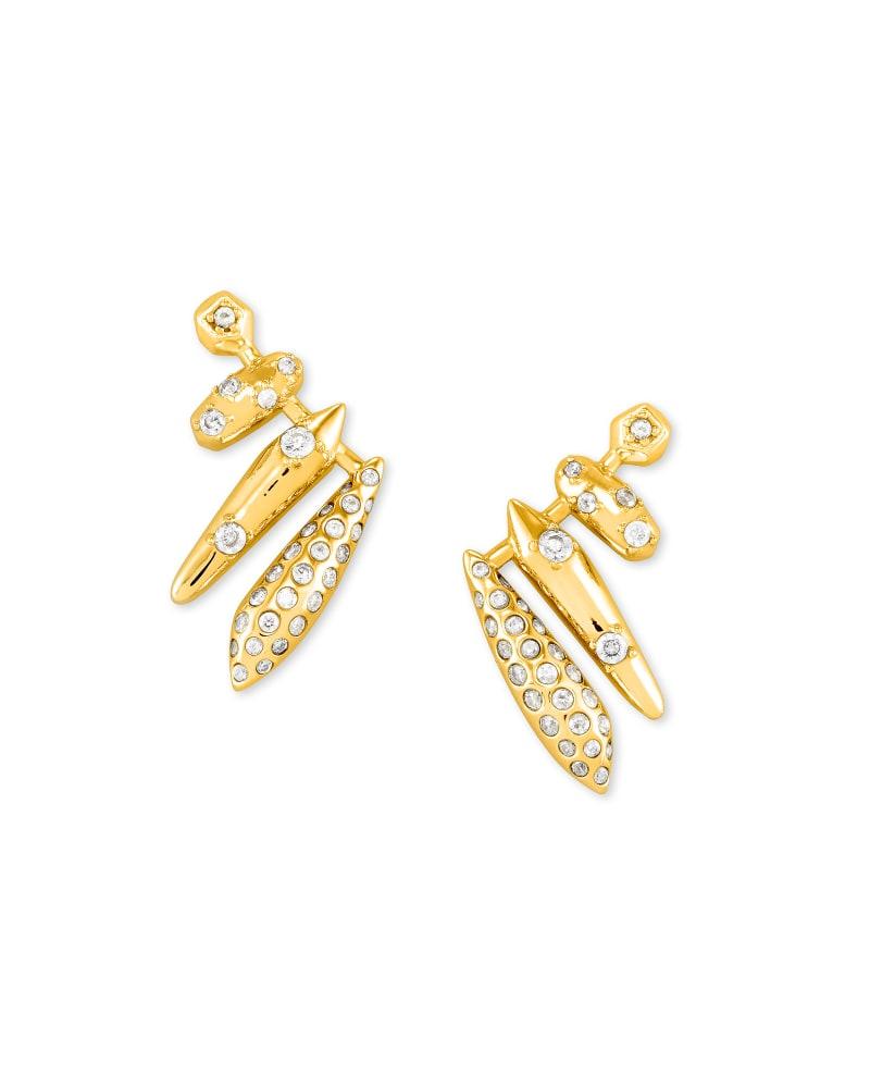 Selena Ear Climber Earrings in Gold