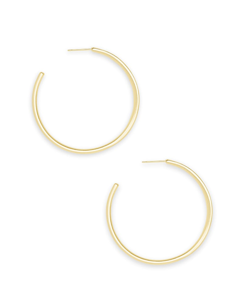 Selena Hoop Earrings in Gold