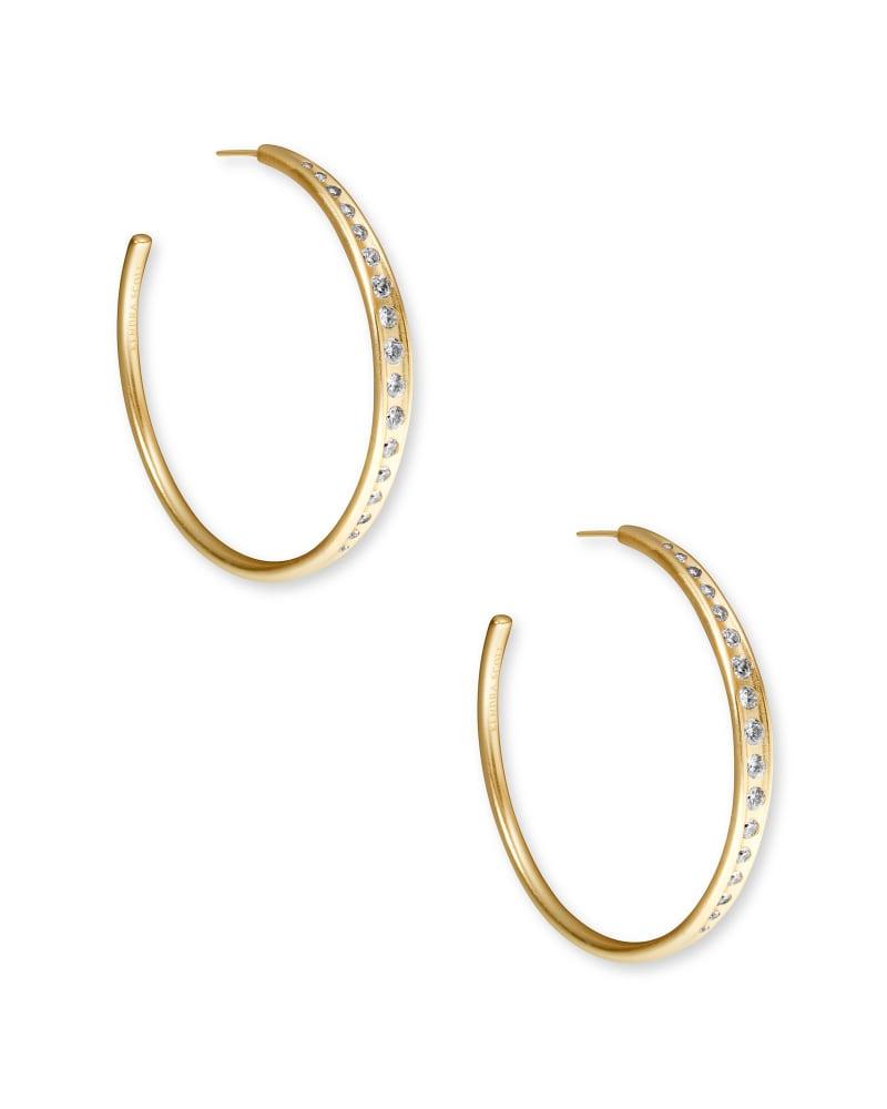 Selena Hoop Earrings in Vintage Gold