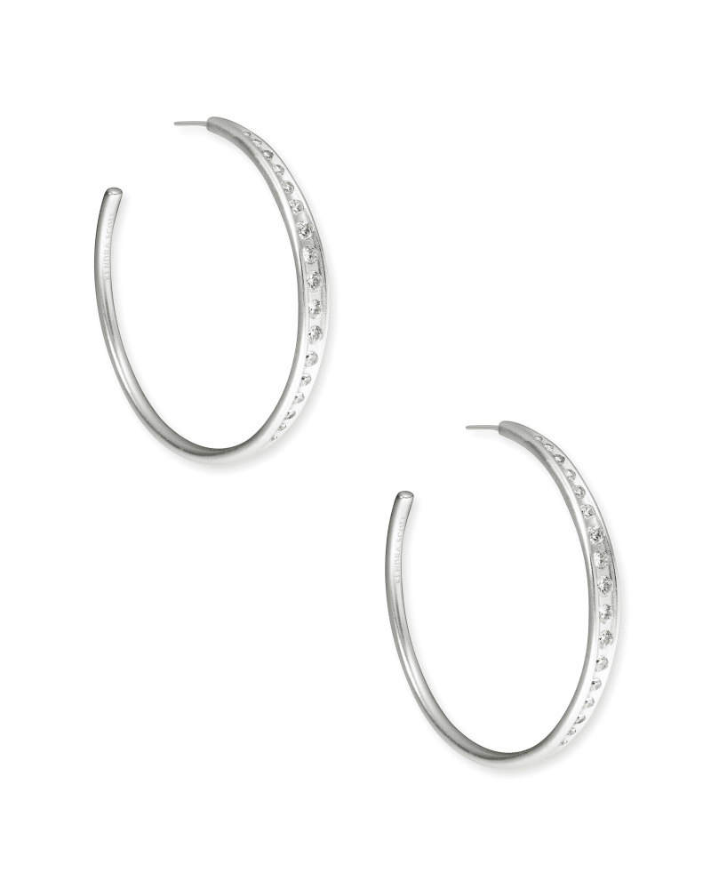 Selena Hoop Earrings in Silver