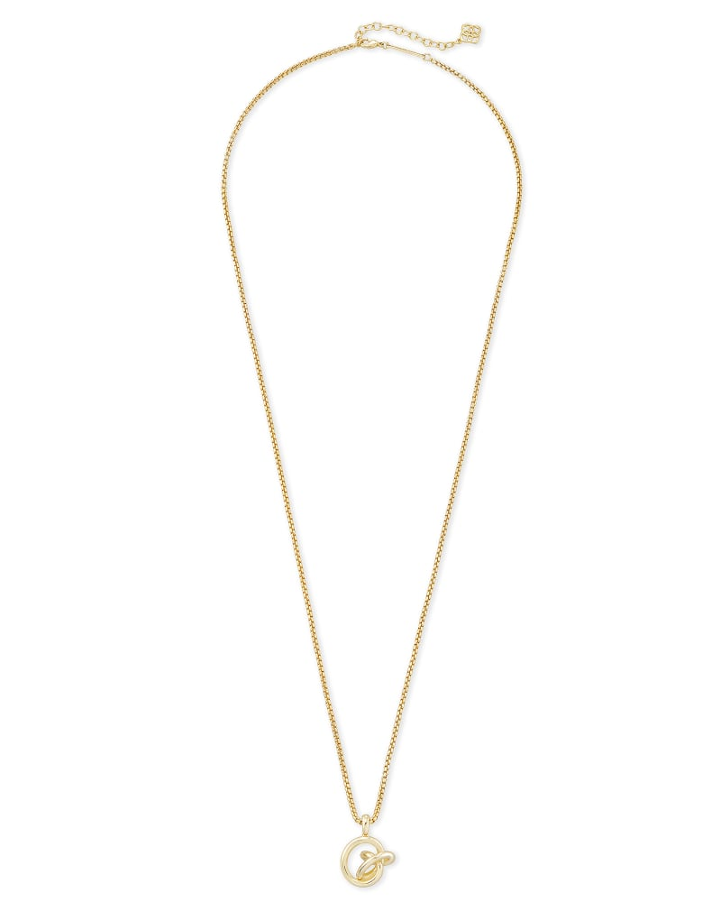 Presleigh Love Knot Pendant Necklace in Gold