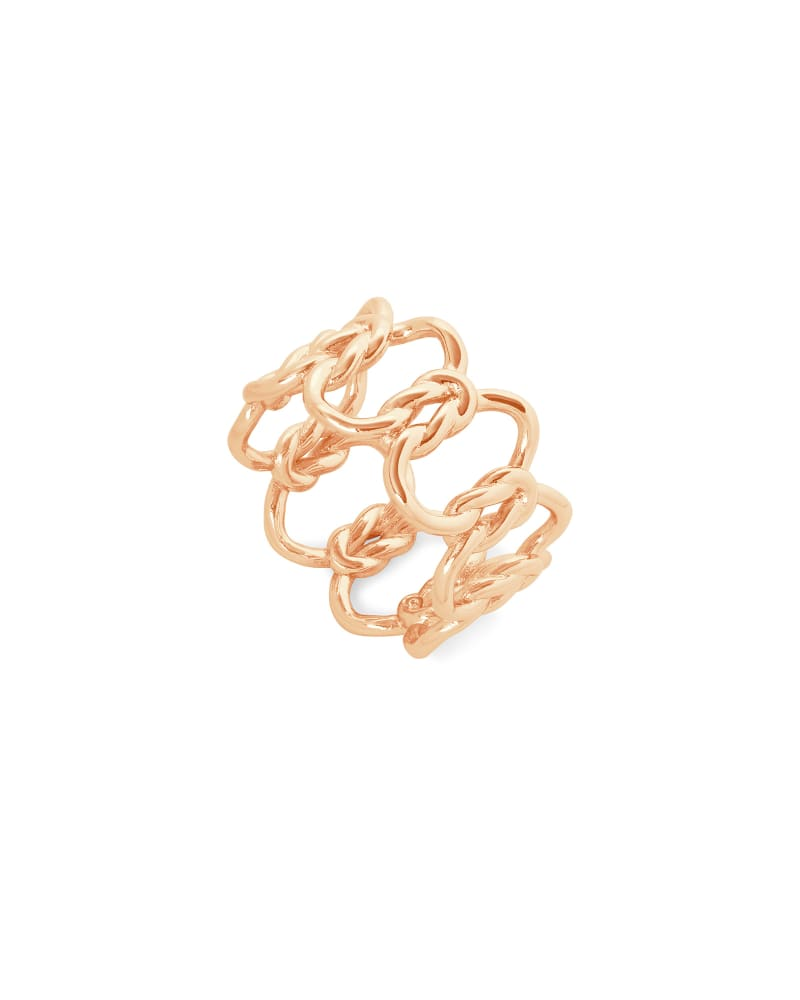 Fallyn Band Ring In Rose Gold