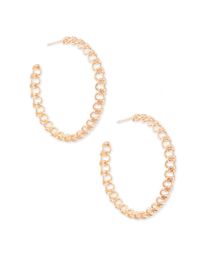 Fallyn Hoop Earrings In Rose Gold