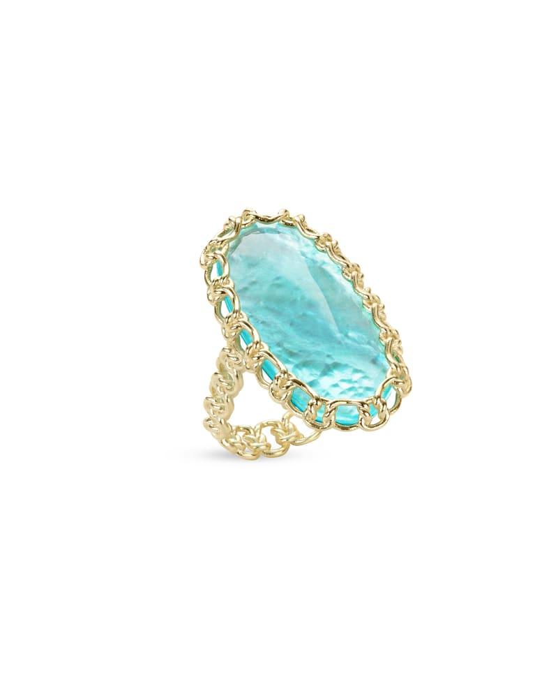 Macrame Ellen Gold Cocktail Ring