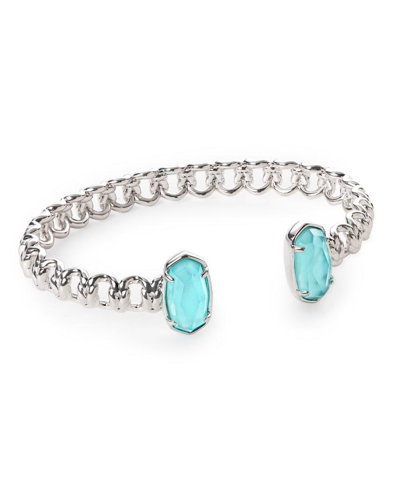 Macrame Elton Silver Cuff Bracelet