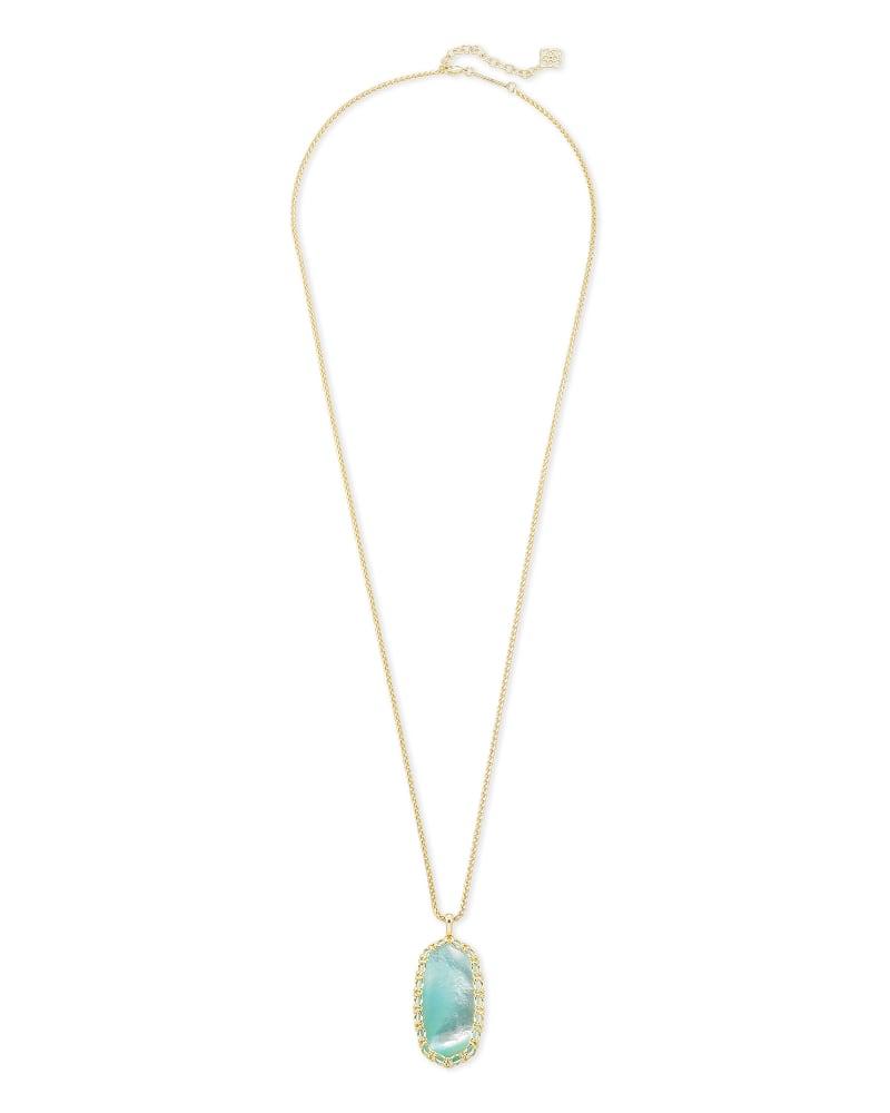 Macrame Reid Gold Long Pendant Necklace