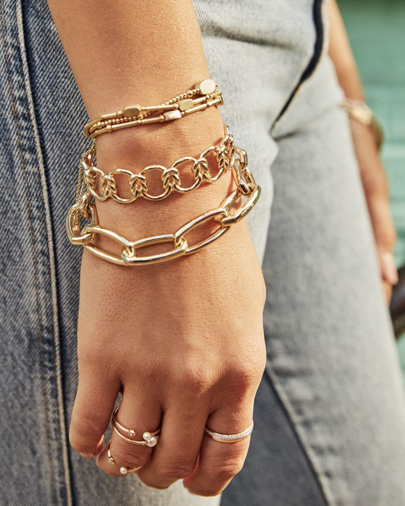 Beckett Link Bracelet in Gold