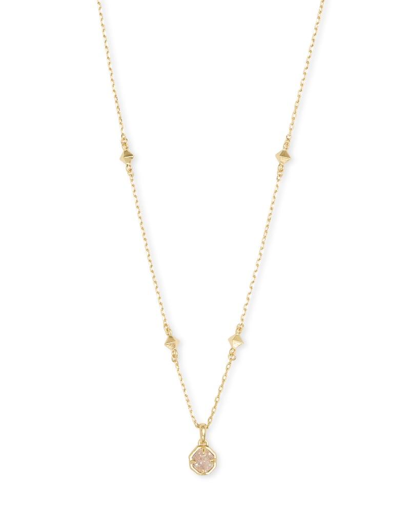 Nola Gold Pendant Necklace in Iridescent Drusy | Kendra Scott