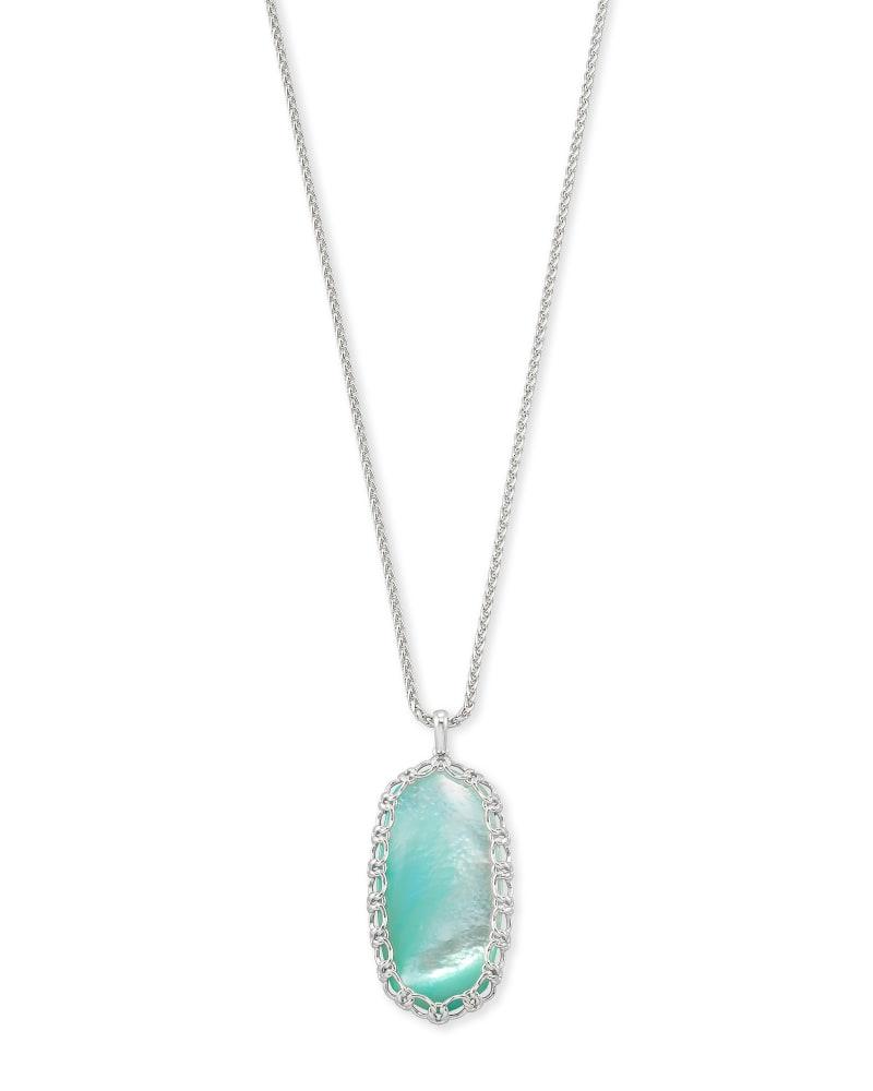 Macrame Reid Silver Long Pendant Necklace