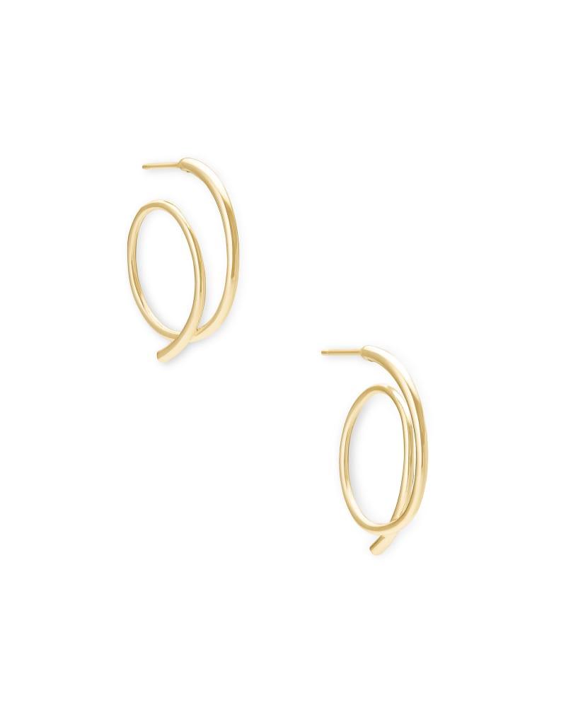 Myles Small Hoop Earrings in Gold