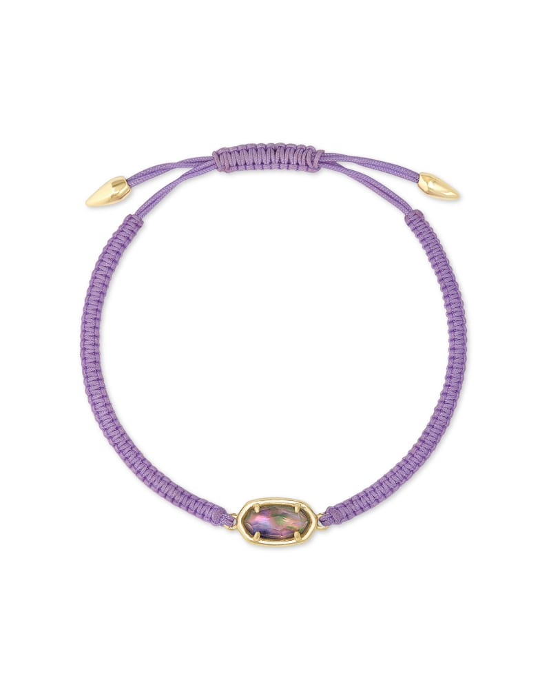 Grayson Lilac Cord Friendship Bracelet in Lilac Abalone