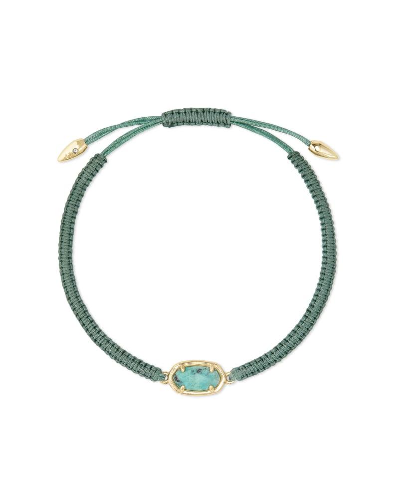 Grayson Sea Green Cord Friendship Bracelet in Sea Green Chrysocolla