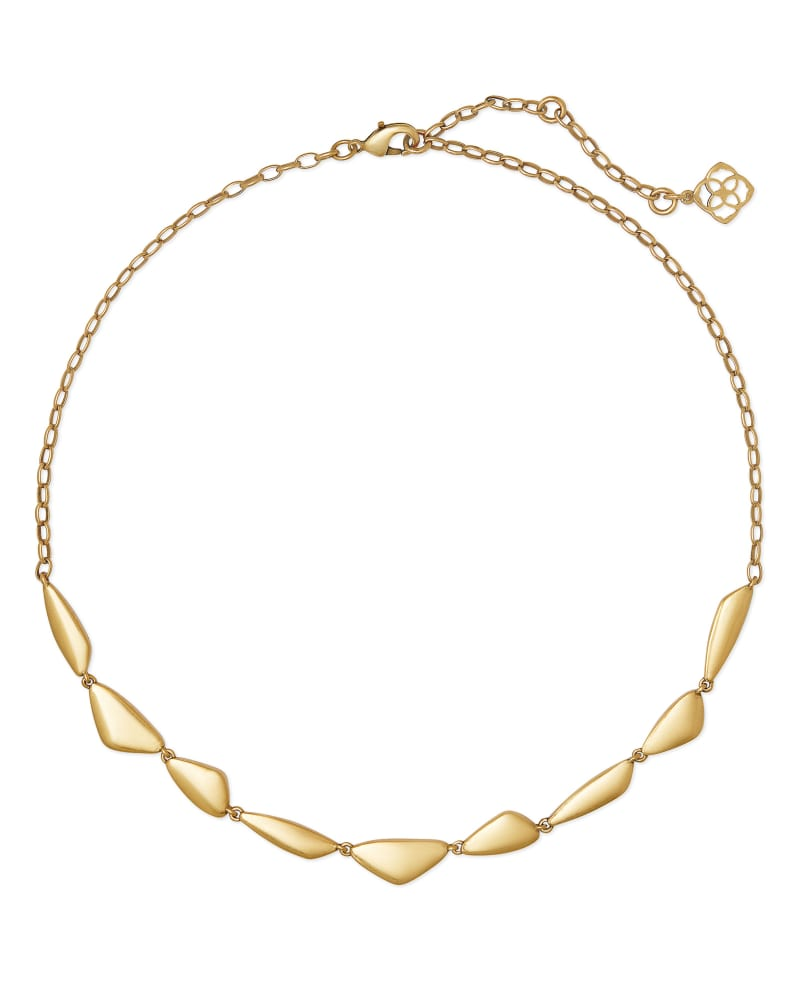 Kira Collar Necklace in Vintage Gold
