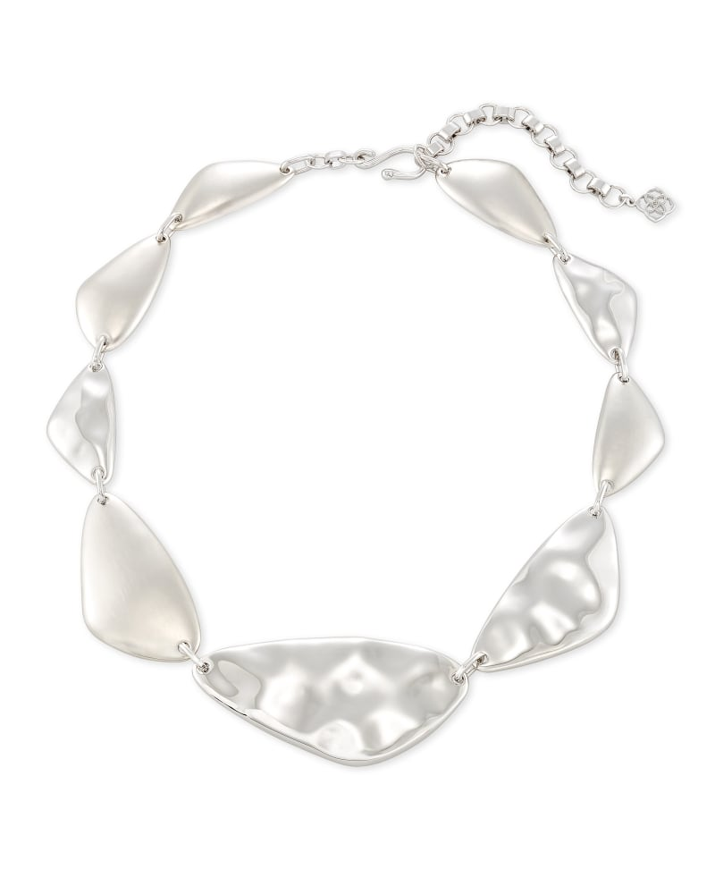 Kira Statement Necklace in Silver