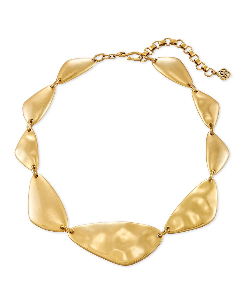 Kira Statement Necklace in Vintage Gold