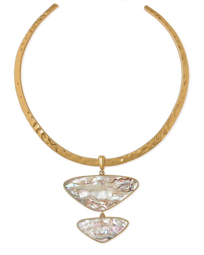 Margot Vintage Gold Statement Necklace in White Abalone | Kendra Scott