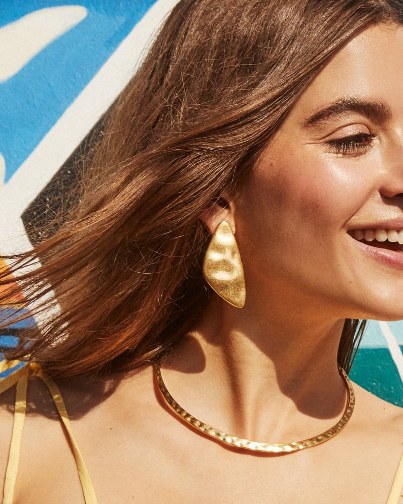 Kira Statement Earrings in Gold