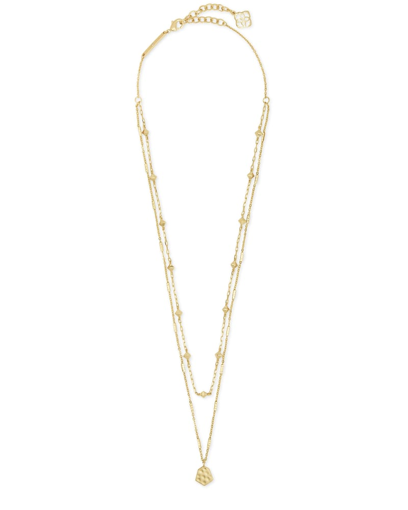 Clove Multi Strand Necklace in Gold
