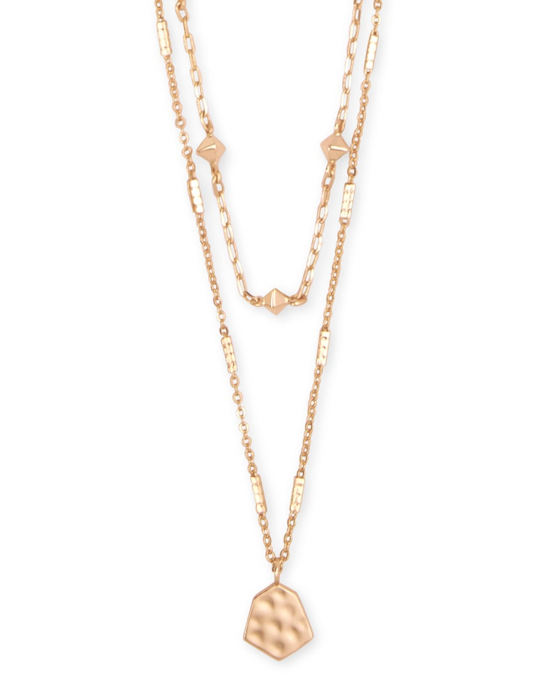 Clove Multi Strand Necklace in Rose Gold