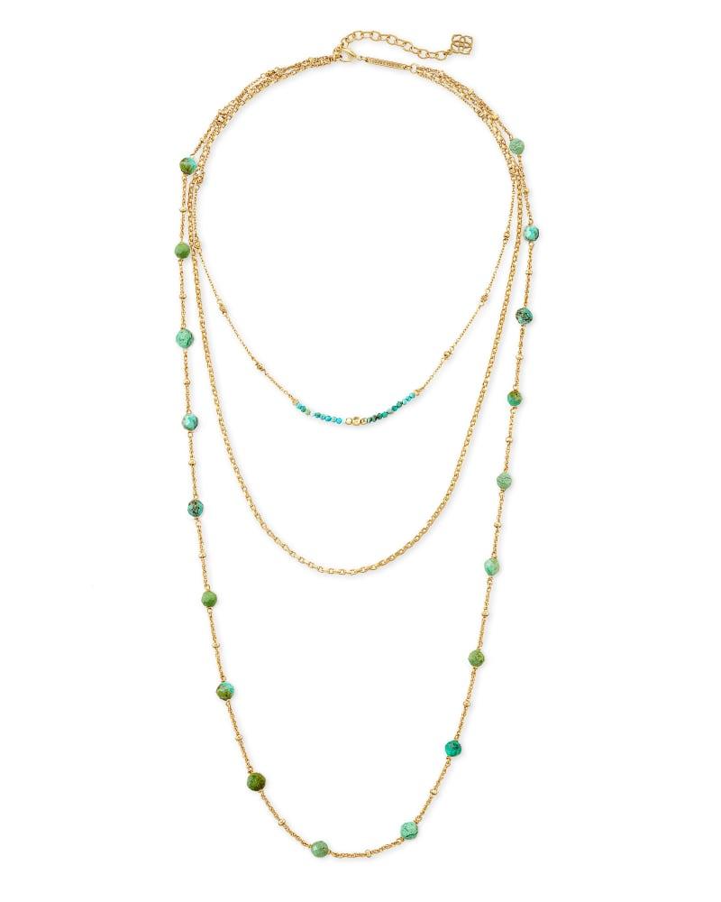 Scarlet Multi Strand Necklace