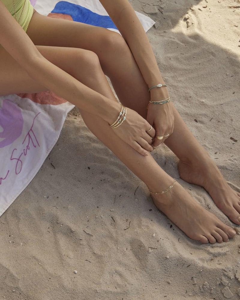 Fern Anklet in Silver