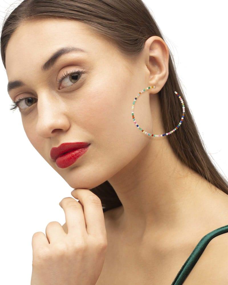 Scarlet Hoop Earrings
