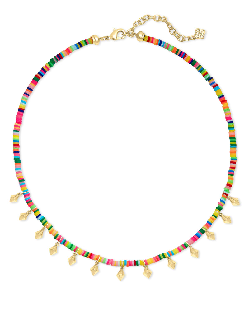 Reece Gold Choker Necklace in Neon Mix