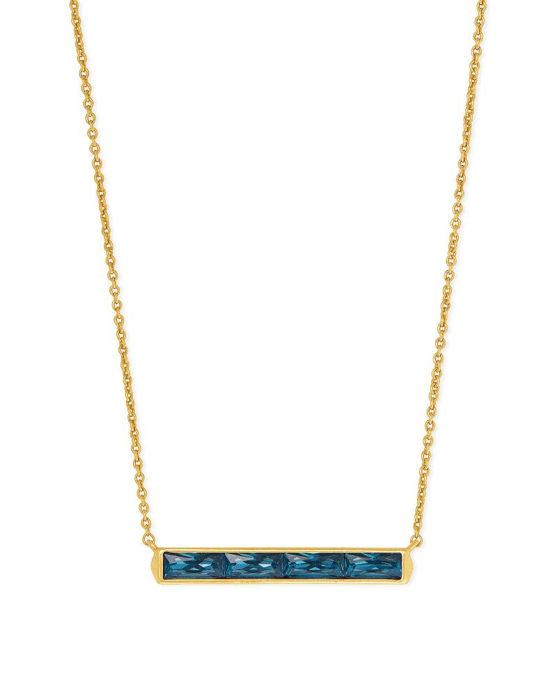 Jack Vintage Gold Pendant Necklace in Teal Crystal | Kendra Scott