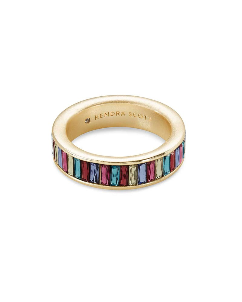 Jack Gold Band Ring in Multi Crystal | Kendra Scott