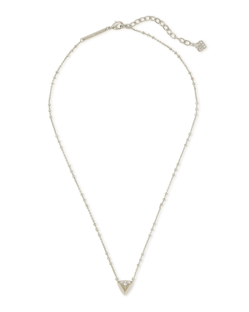 Perry Pendant Necklace in Silver