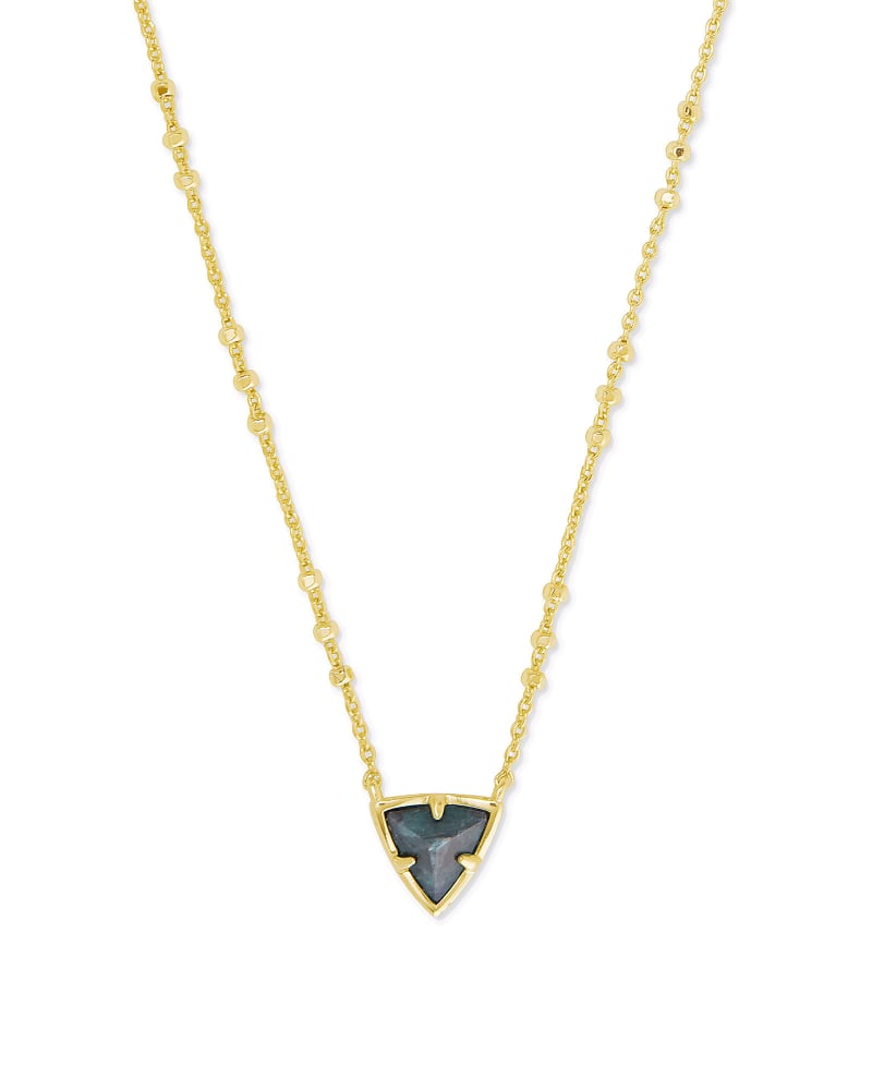 Perry Gold Pendant Necklace in Green Apatite