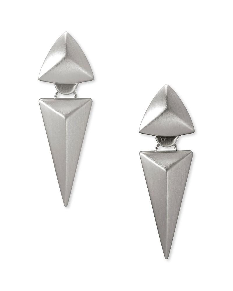 Vivian Statement Earrings in Silver