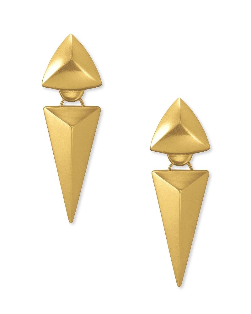 Vivian Statement Earrings in Vintage Gold