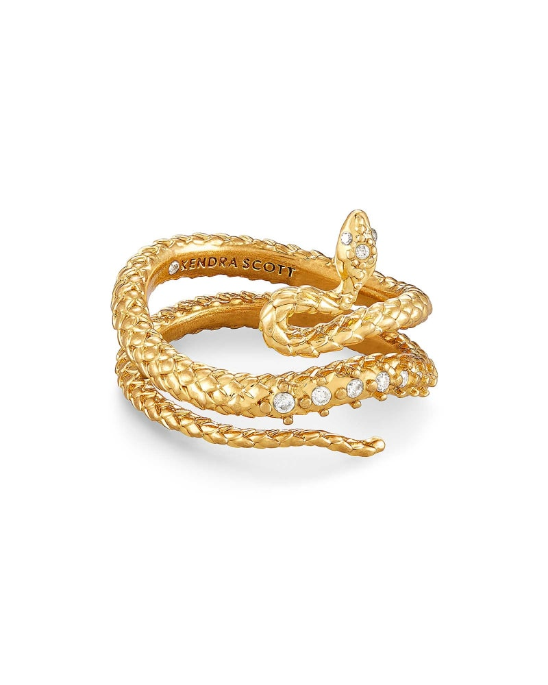 Phoenix Wrap Ring in Vintage Gold