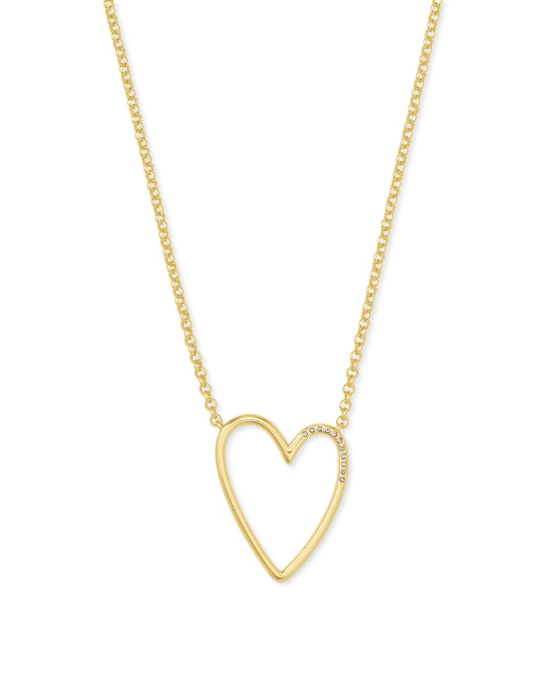 Ansley Heart Pendant Necklace in Gold | Kendra Scott