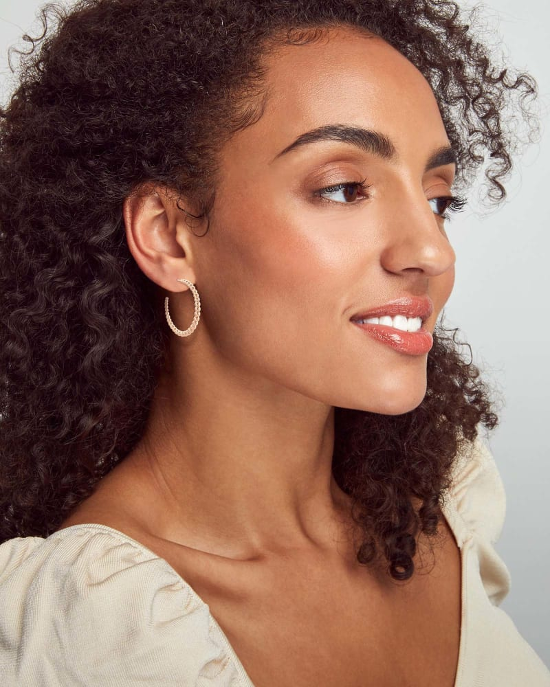 Josie Hoop Earrings in Rose Gold
