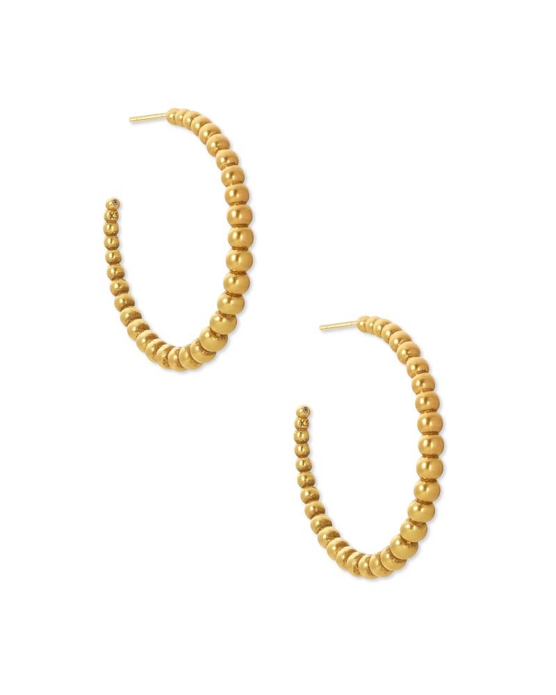 Josie Hoop Earrings in Vintage Gold   Kendra Scott