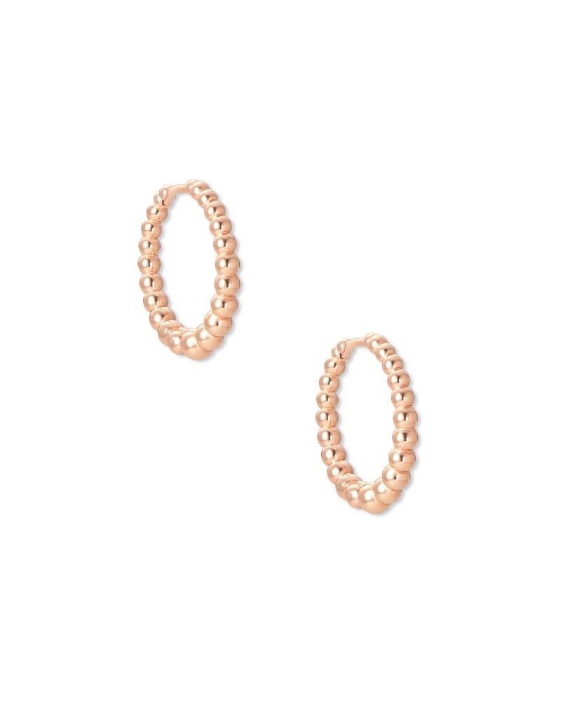 Josie Huggie Earrings in Rose Gold