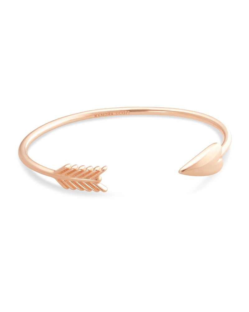 Zoey Arrow Cuff Bracelet in Rose Gold
