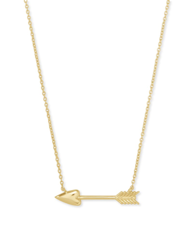 Zoey Arrow Pendant Necklace in Gold