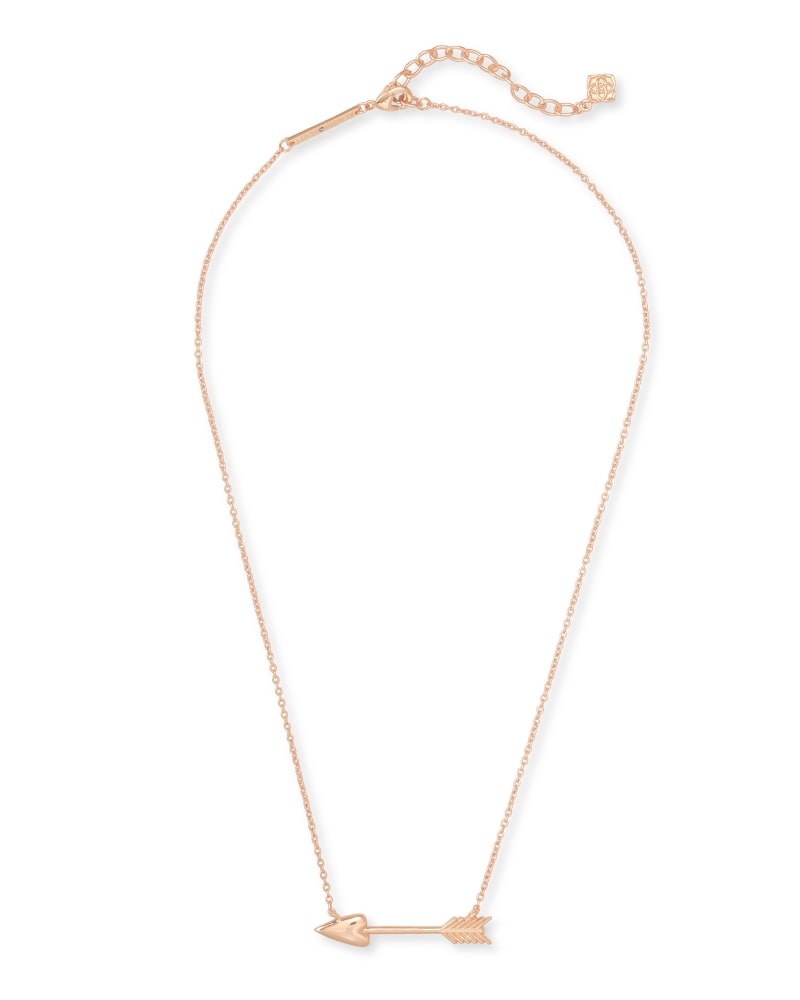 Zoey Pendant Necklace in Rose Gold