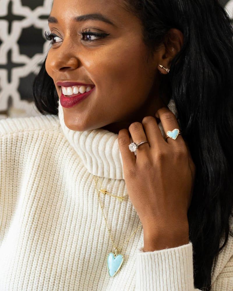 Zoey Stud Earrings in Gold