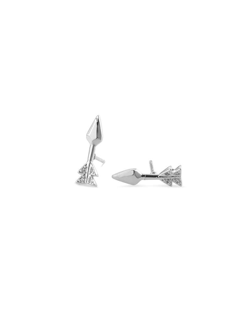 Zoey Arrow Stud Earrings in Silver