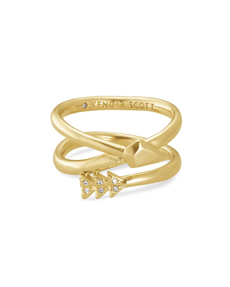 Zoey Arrow Wrap Ring in Gold   Kendra Scott