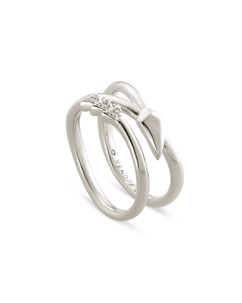 Zoey Wrap Ring in Silver
