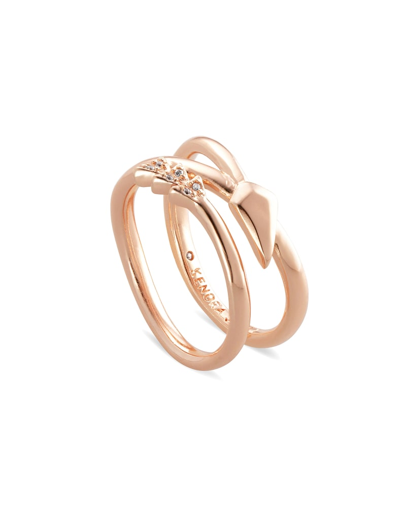 Zoey Arrow Wrap Ring in Rose Gold