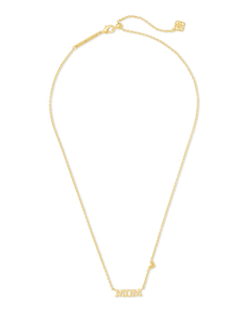 Mom Pendant Necklace in Gold