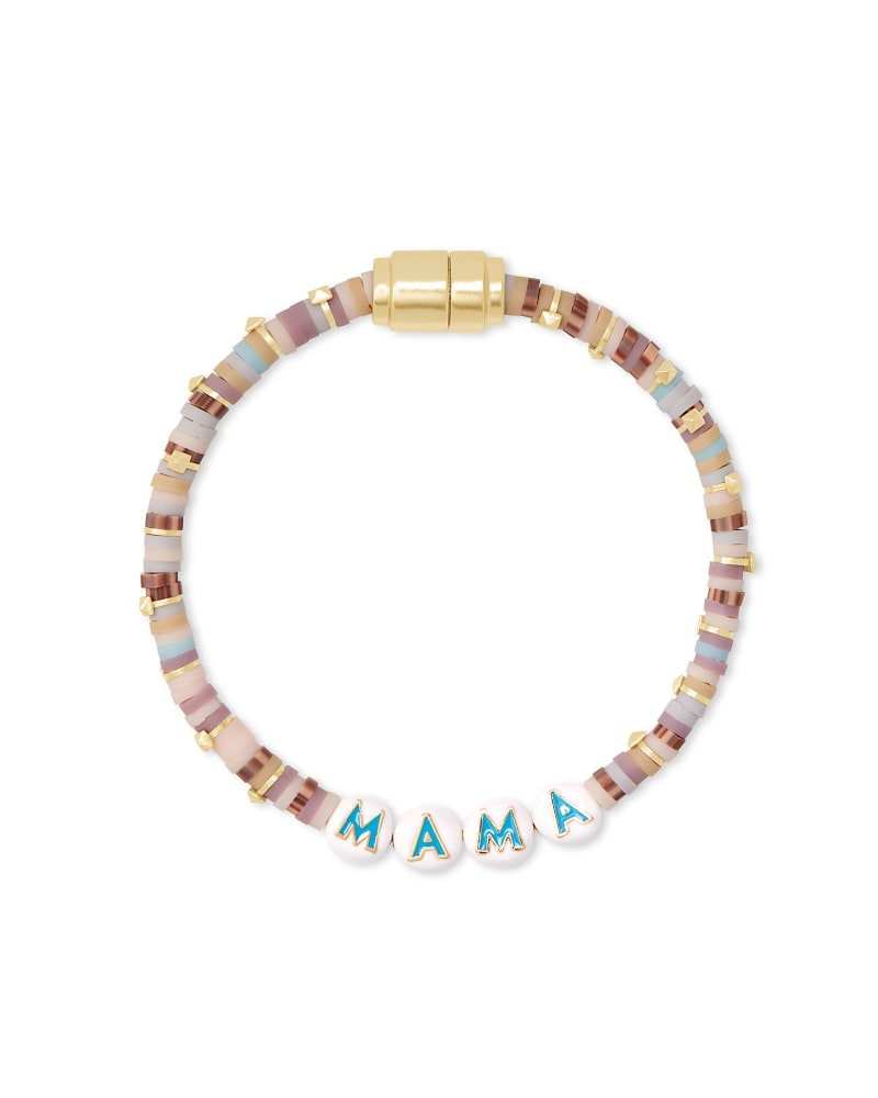 Reece Gold Mama Friendship Bracelet in Neutral Pastel Mix