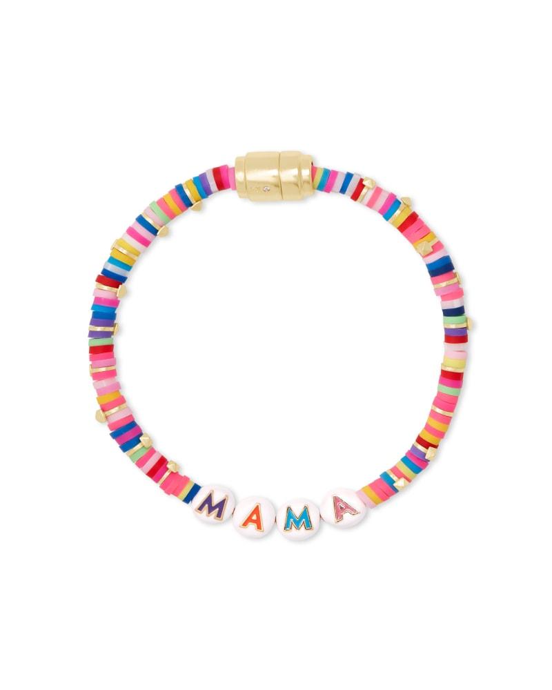 Reece Gold Mama Friendship Bracelet in Pink Mix   Kendra Scott